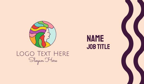 lgbtq - Rainbow Hair Salon  Business card horizontal design