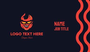 Fiery Head Mascot Business Card