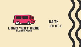 Pink Van Transport Business Card