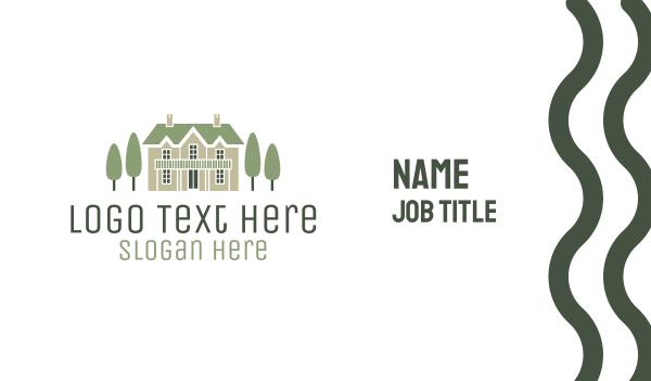 perfect - Mansion Estate & Trees Business card horizontal design