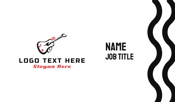 latino - Guitar Sound Business card horizontal design