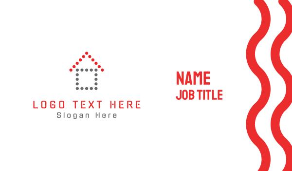 up - Dot House Business card horizontal design