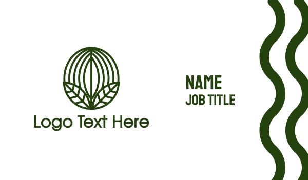 coffee bean - Green Coffee Bean Leaf  Business card horizontal design
