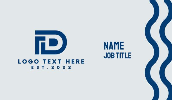letter d - Digital Letter D Business card horizontal design