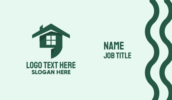 roof - Apostrophe House  Business card horizontal design