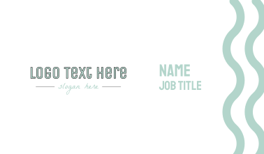 Modern Company Text Business Card