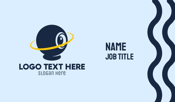 webcam - Orbit Webcam Chat  Business card horizontal design