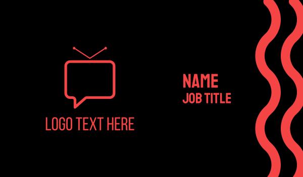 iptv - Vlog Channel Chat Business card horizontal design