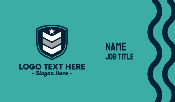 troop - Military Rank Business card horizontal design