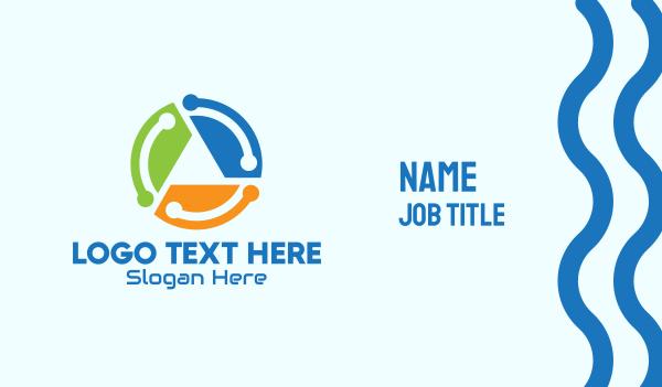 reuse - Multicolor Recycling Process Business card horizontal design