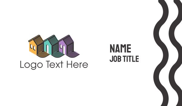 real estate development - House Trio Business card horizontal design