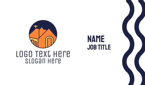 priest - Orange Chapel  Business card horizontal design