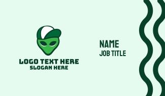 Alien Trucker Cap Business Card