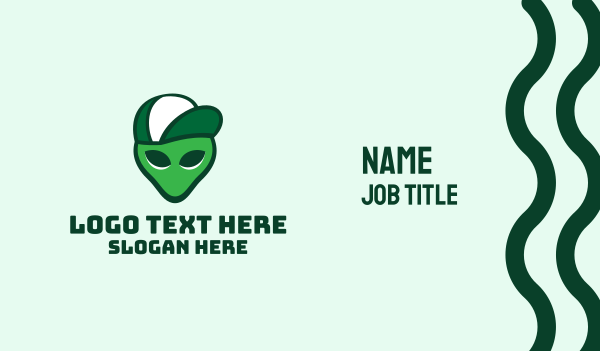 galaxy - Alien Trucker Cap Business card horizontal design