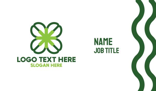 asterisk - Four Leaf Clover Business card horizontal design