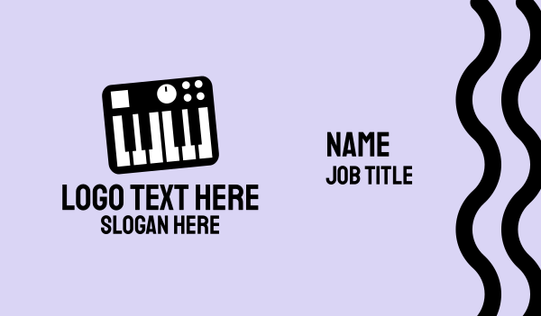 pianist - Music Synthesizer Business card horizontal design