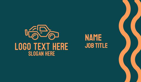 suv - Modern Style Jeep SUV Business card horizontal design
