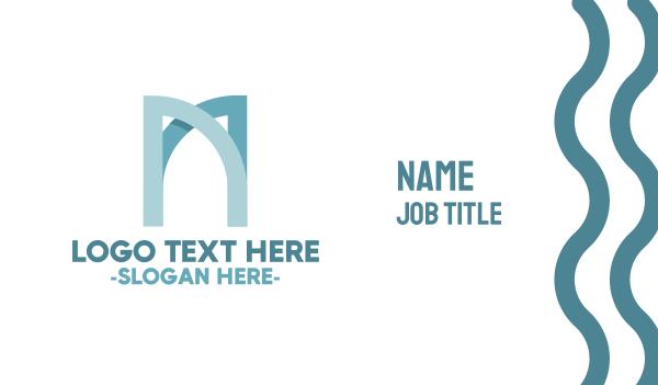 interior designing - Modern Letter M  Business card horizontal design