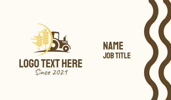 Farm Tractor Vehicle Business Card