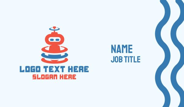 bot - Cute Robot Signal Business card horizontal design