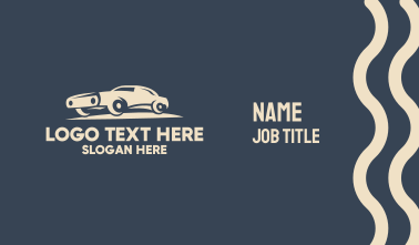 Classic Muscle Car Business Card