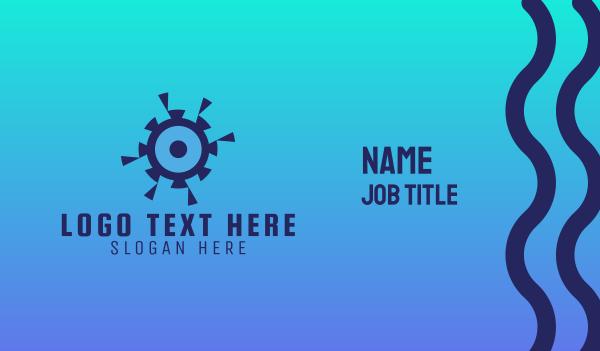 blue camera - Shutter Eye Business card horizontal design