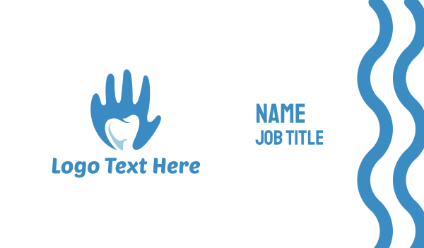 dental clinic - Dental Hygiene Care Business card horizontal design