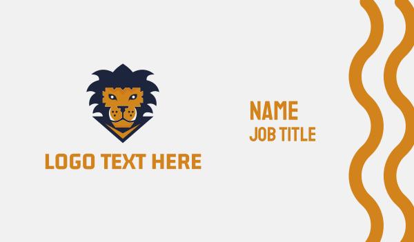 baseball - Lion Game Business card horizontal design