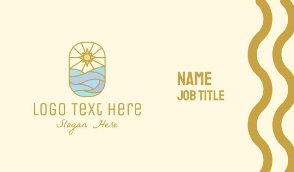 horizon - Ocean Sun Business card horizontal design
