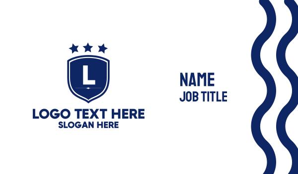 personnel - Military Badge Lettermark Business card horizontal design