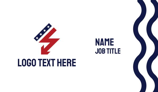 electronic - USA Thunder Business card horizontal design