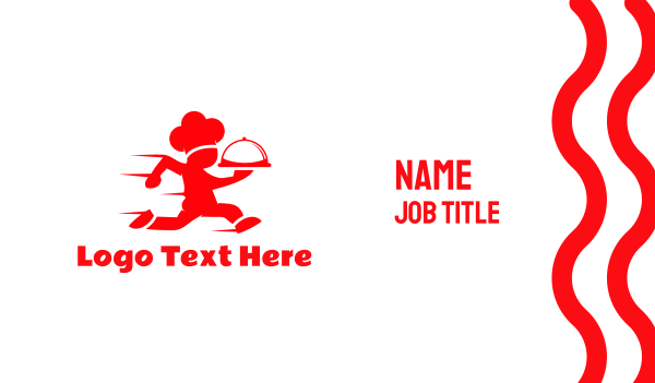 red man - Chef Race Business card horizontal design