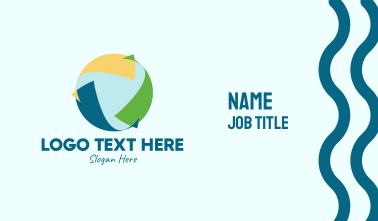 Generic Sustainable Arrows  Business Card