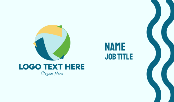 reuse - Generic Sustainable Arrows  Business card horizontal design