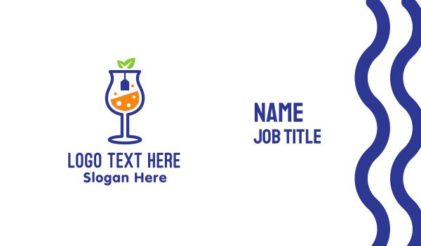 fermented - Wine Tea  Business card horizontal design