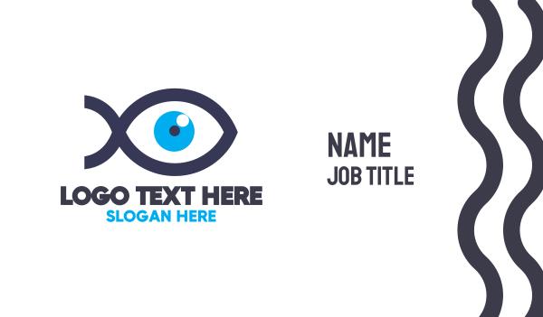 eye center - Blue Eye Fish Business card horizontal design
