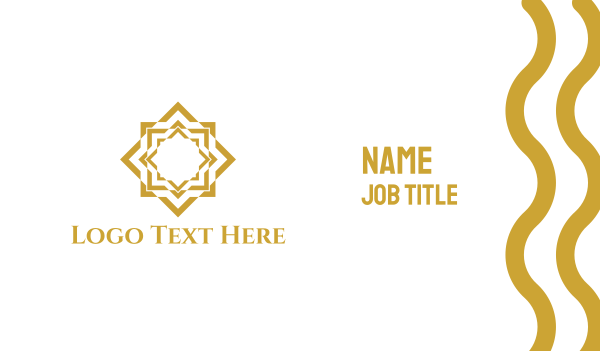 fudge - Gold Star Business card horizontal design