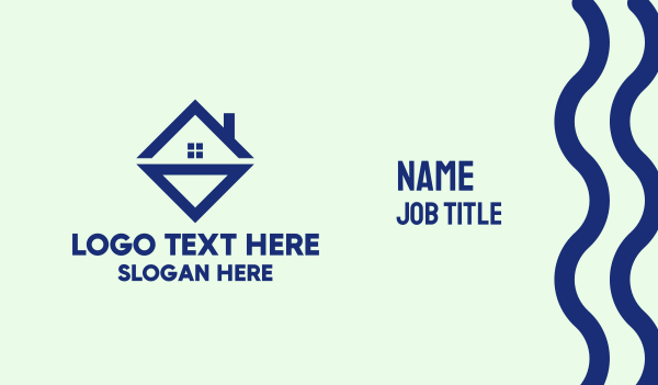 triangle - Diamond Real Estate Business card horizontal design
