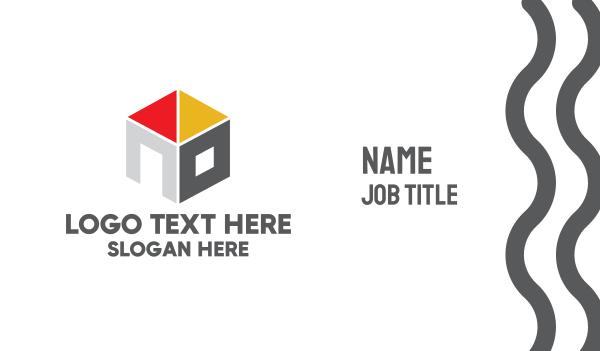 depot - Modern Housing Cube Business card horizontal design