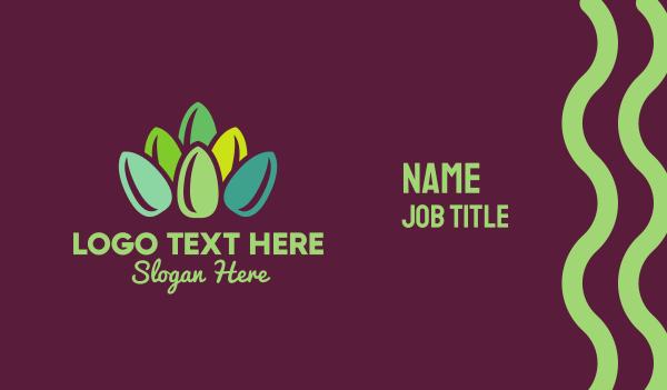 color - Flower Nails Business card horizontal design