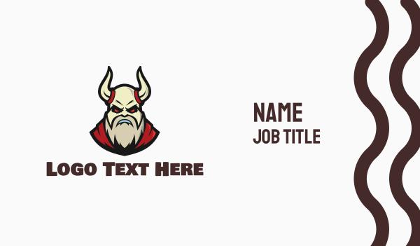 historical - Barbarian Devil Esports Clan Business card horizontal design