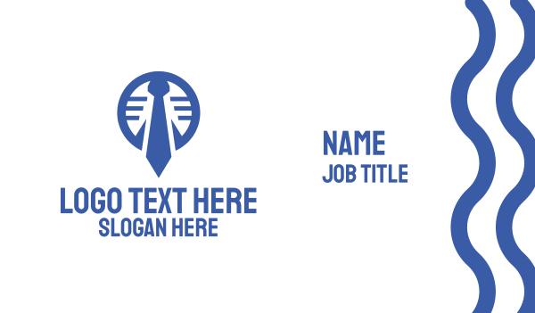 tuxedo - Blue Tie Financing Business card horizontal design