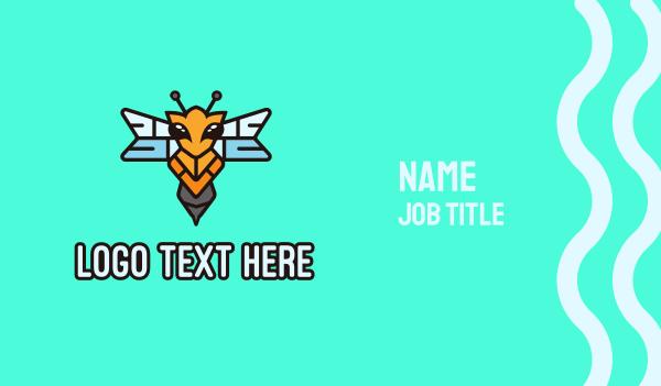 hornet - Flying Hornet Wasp Business card horizontal design
