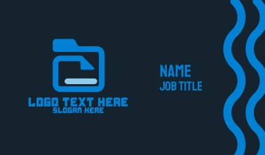 File Folder Business Card