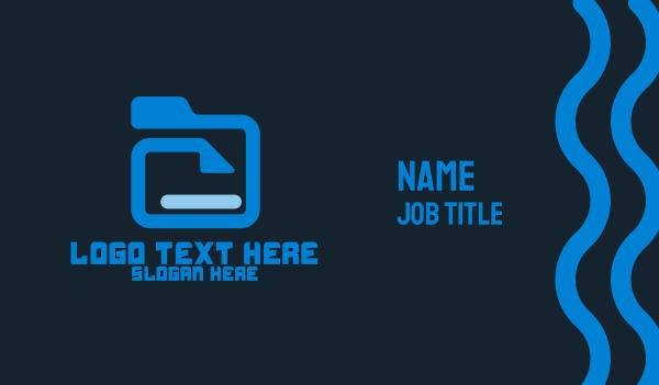 file - File Folder Business card horizontal design