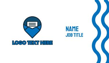 Blue Mail Navigation Business Card