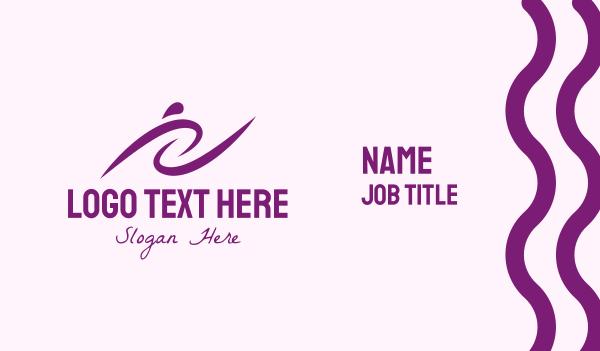 life coach - Purple Women's Training Business card horizontal design