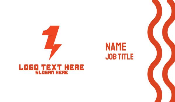 forecast - Red Thunder Number 1 Business card horizontal design
