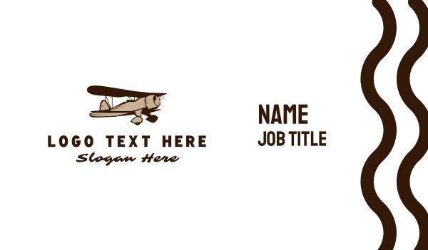 airforce - Vintage Plane Business card horizontal design