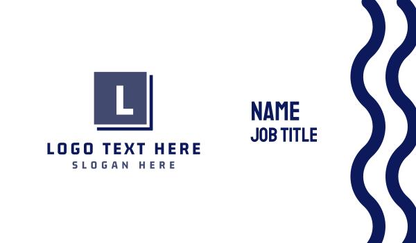 bucketlist - Modern Brand Business card horizontal design